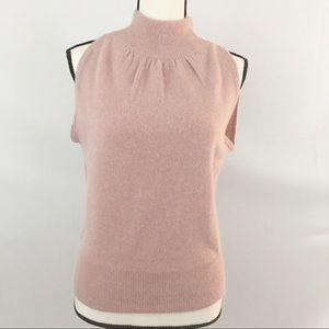 Evan-Picone Rose Pink Sleeveless Sweater Blouse
